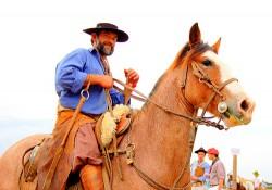 Cavalier et son cheval Campeiro