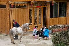 Le Baise - Guangxi dans un village Chinois